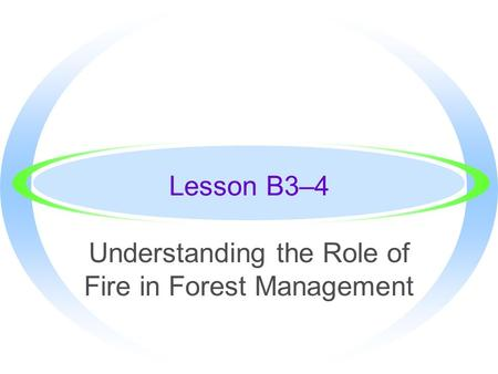 Understanding the Role of Fire in Forest Management