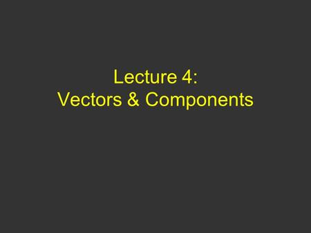 Lecture 4: Vectors & Components. Questions of Yesterday 1)A skydiver jumps out of a hovering helicopter and a few seconds later a second skydiver jumps.