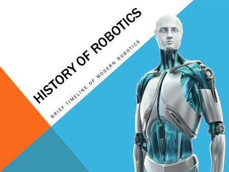 HISTORY OF ROBOTICS BRIEF TIMELINE OF MODERN ROBOTICS.