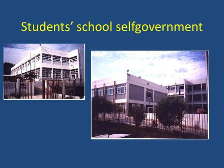 Students' school selfgovernment. It would be better if the 1 st class started at 9:00.