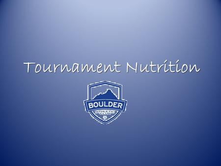 "Tournament Nutrition. Oh Em Gee, Why? We've all seen those ""you are what you eat commercials"". Some of them are creatively hilarious, while others put."