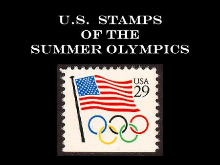 U.S. Stamps of the Summer Olympics 1932 Los Angeles, California.