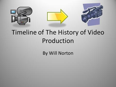 Timeline of The History of Video Production By Will Norton.