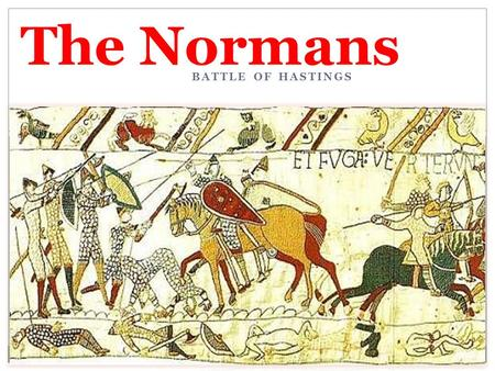 BATTLE OF HASTINGS The Normans. Background: Cnut In 1016, Cnut was a prince of Denmark, but he invaded England and became king. He originally had the.