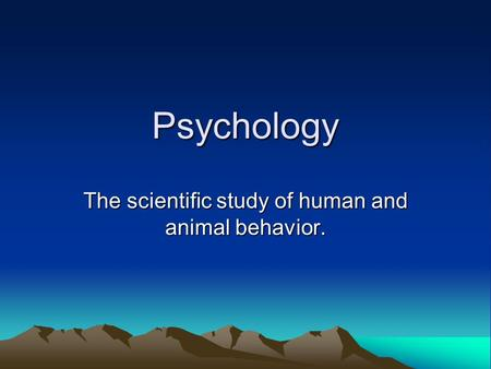 development of scientific study of human behavior Study of human behavior, types of human behavior the study of human's behavior is probably the most fascinating interests that an investigator can undertake actually, human beings are extremely complex that numerous disciplines of study are already established so that we could choose the study of human behavior which interests us the most.