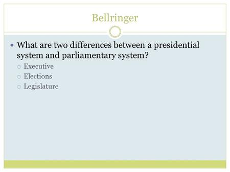 what are the differences between presidentialism and parliamentarism politics essay Tackling political fragmentation and polarization: parliamentarism or presidentialism  institutional differences between parliamentary and presidential.