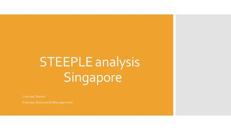 STEEPLE analysis Singapore