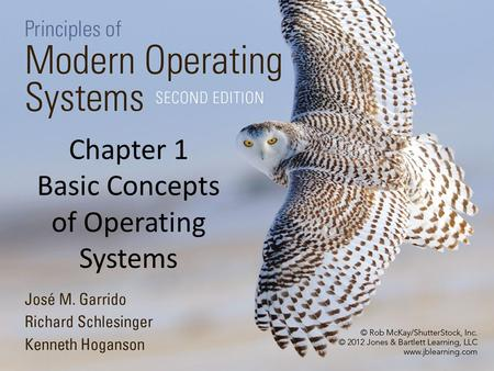 Chapter 1 Basic Concepts of Operating Systems. 2 1.1 Introduction Software A program is a sequence of instructions that enables the computer to carry.
