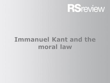 Immanuel Kant and the moral law. Kant (1) Kant's ethics are those of the deist, rather than the theist. He was an important thinker in the deist project,