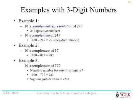 Examples with 3-Digit Numbers
