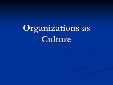 nacirema culture