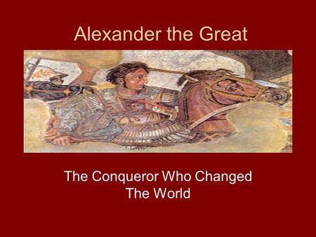 an introduction to the life and conquest of alexander the great This is the first publication in english of pierre briant's classic short history of alexander the great's conquest of the persian empire, from the medi.