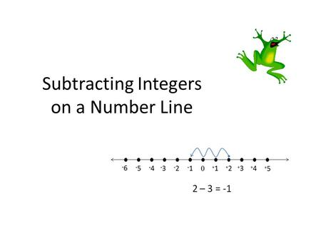 Subtracting Integers on a Number Line. How to subtract using a number line Place a circle on the number line to represent the first number in the problem.