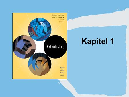Kapitel 1. Copyright © Houghton Mifflin Company. All rights reserved.1 | 2 1. Infinitive stems and endings.