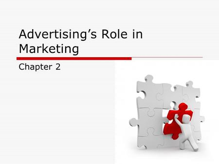 Advertising's Role in Marketing Chapter 2. 2 Key Points  Define the role of advertising within marketing  Explain how the four key concepts in marketing.