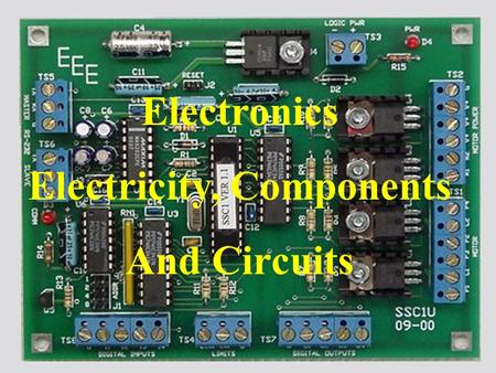 Logo Electronics Electricity, Components And Circuits.
