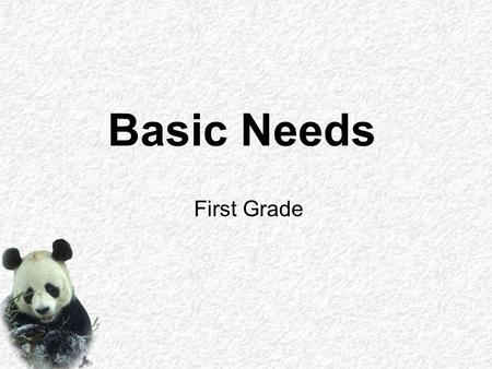 Basic Needs First Grade. itself. protect to A has xxxx Name: