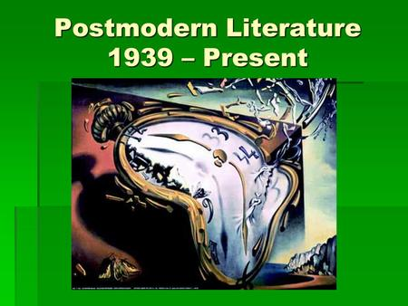 contemporary period 1939 to present Hist103: world history in the early modern and and political power led to a period of great intellectual systematically murdered from 1939.