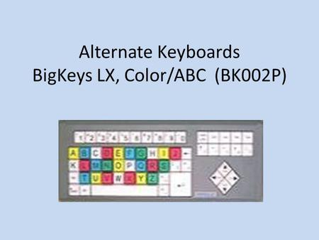 Alternate Keyboards BigKeys LX, Color/ABC (BK002P)