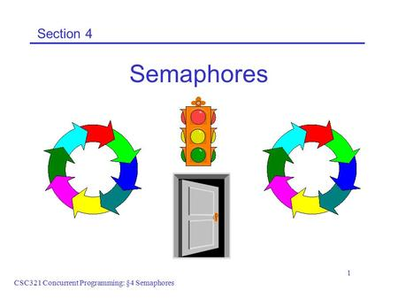 CSC321 Concurrent Programming: §4 Semaphores 1 Section 4 Semaphores.