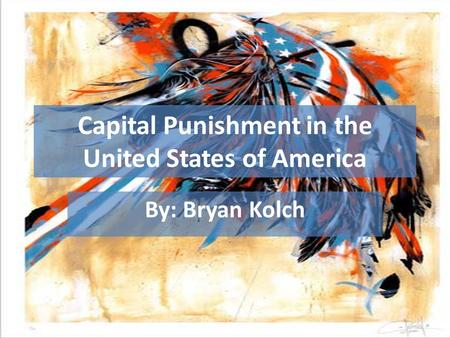 Capital Punishment in the United States of America