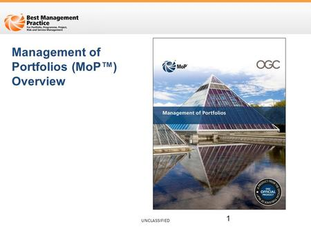 Management of Portfolios (MoP™) Overview