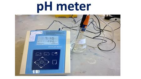 PH meter. What is pH? pH is a measure of the activity of the hydrogen ion in a solution. The pH value states the degree of the hydrogen ion activity in.
