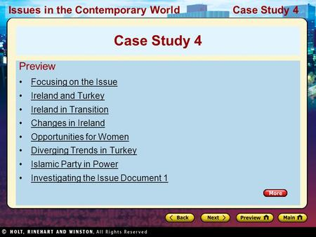 Issues in the Contemporary World Case Study 4 Preview Focusing on the Issue Ireland and Turkey Ireland in Transition Changes in Ireland Opportunities for.