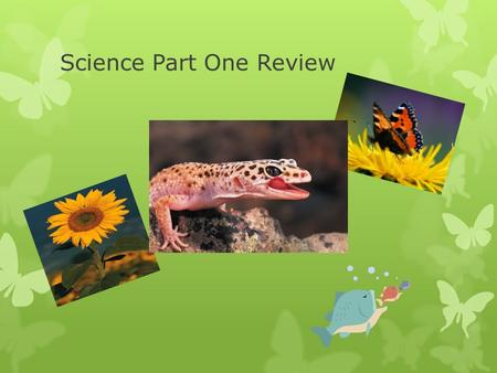 Science Part One Review. Here are some helpful studying tips 1.Study Highlighted items in your science study guide. 2.Take good notes in class and make.
