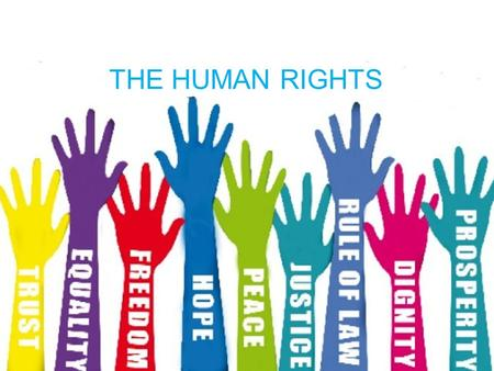 THE HUMAN RIGHTS. CLICK THE BOXES TO LEARN ABOUT THEM History of Human Rights The Branches of the Human rights NGO's 3 dimensions of Human rights 3 qualities.