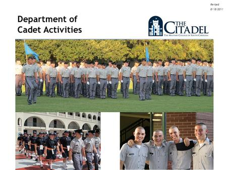 1 Department of Cadet Activities Revised 8/18/2011.