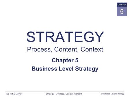 STRATEGY Process, Content, Context