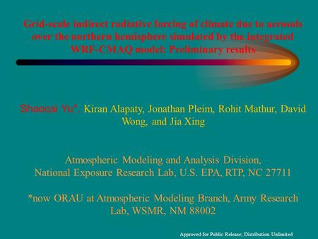 Atmospheric Modeling and Analysis Division,