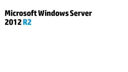 Microsoft Windows Server 2012 R2. What's NEW in Windows Server 2012 R2.