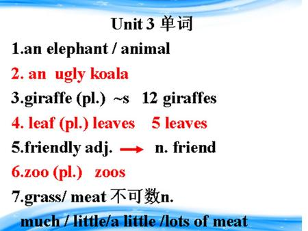 Unit 3 Why do you like koalas? penguin elephant lion panda.