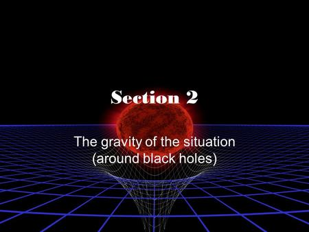 The gravity of the situation (around black holes)
