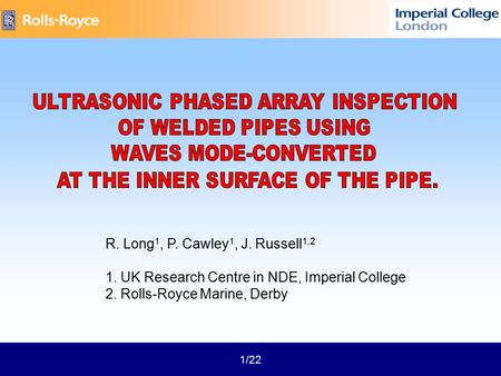 nondestructive testing using air borne ultrasound ppt