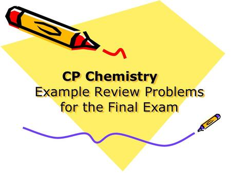 CHEM 2423 Practice Exams