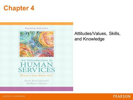 Chapter 4 Attitudes/Values, Skills, and Knowledge.