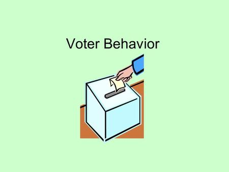 Voter Behavior. Terms to Know Ballot Fatigue – run out of patience and knowledge at the end of the ballot and leave it blank Time-zone Fallout - polls.