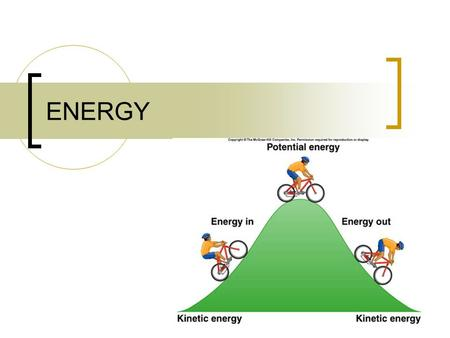 ENERGY. Energy Energy- the ability to do work SI unit: Joules.