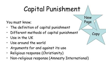 thesis statement on capital punishment Capital punishment and human rights: the death penalty as a violation of the right to treaties and organizations to abolish capital punishment 41 42 the 43 the international covenant on civil and 12 statement of the problem capital punishment, sadly, still exists in some.