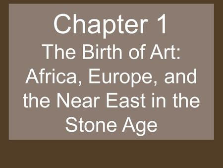 Africa, Europe, and the Near East in the