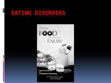 Causes  It is important to understand that an eating disorder is merely a symptom of an underlying problem. Eating Disorders can have MANY causes, but.