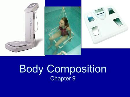 Body Composition Chapter 9. Do Now- Intro to Body Comp. Tell me anything that comes to mind when you Hear the words Body Composition. If you wanted to.