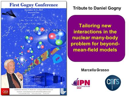 Tailoring new interactions in the nuclear many-body problem for beyond- mean-field models Marcella Grasso Tribute to Daniel Gogny.