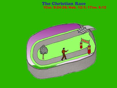 The Christian Race 1Cor. 9:24-26; Heb. 12:1; 1Tim. 6:12.
