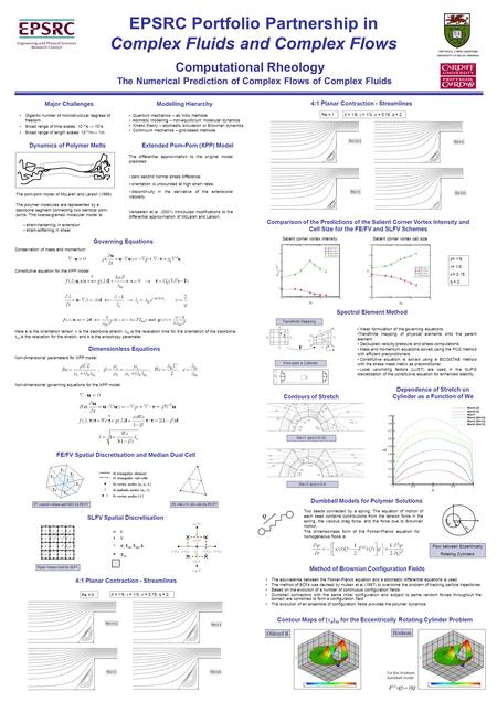 EPSRC Portfolio Partnership in Complex Fluids and Complex Flows Computational Rheology The Numerical Prediction of Complex Flows of Complex Fluids Gigantic.