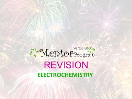 REVISION ELECTROCHEMISTRY. OXIDATION Oxidation is a loss of electrons The oxidation number increases E.g. Electrodes where oxidation take place will reduce.