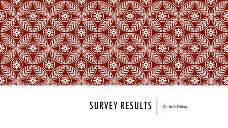 SURVEY RESULTS Chrissie Bishop. GENRE Question one helped me to discover that 54.5% of participants think that pop magazines will be the most successful;
